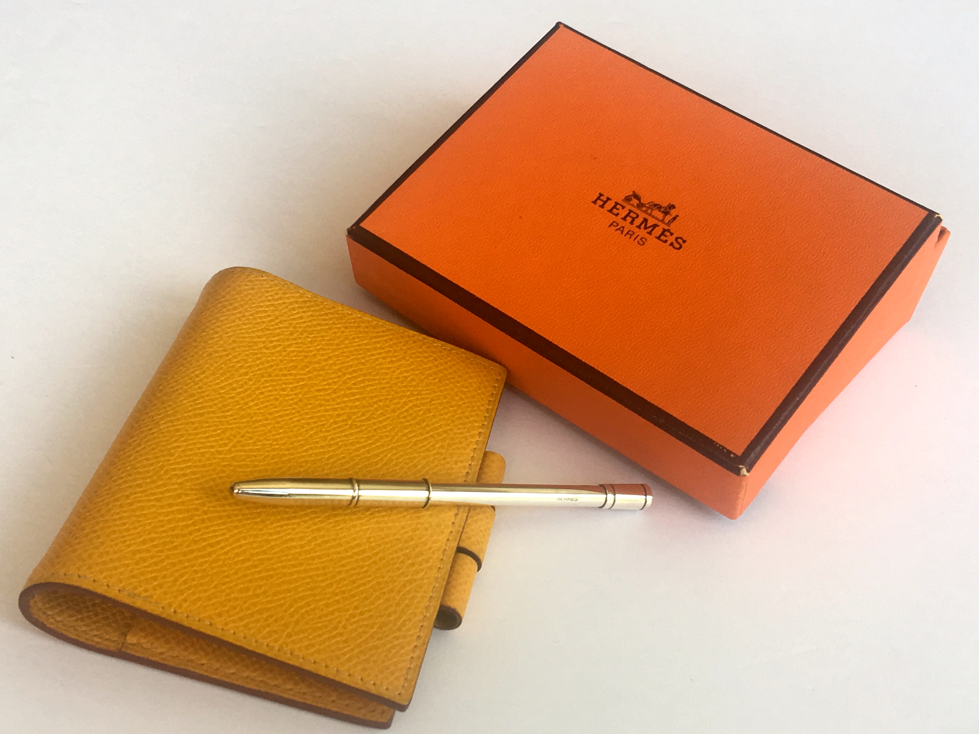 Hermes Agenda Cover Vision Pm Mini With 925 Serling Silver