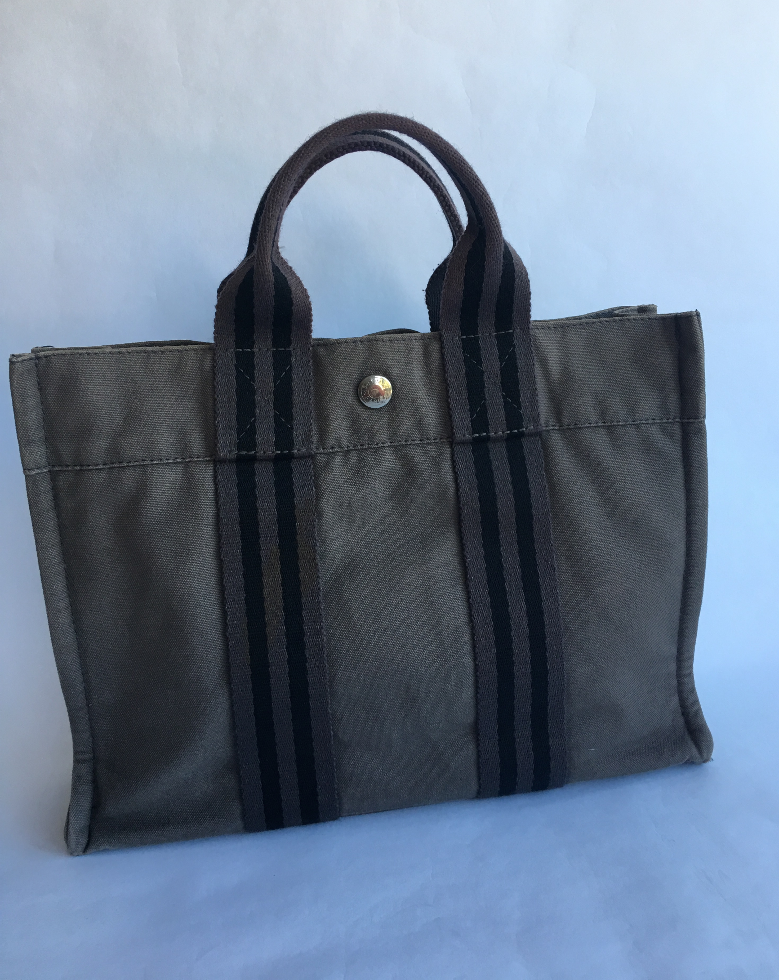 784384418b4c Authentic HERMES Fourre Tout PM Tote Hand Bag Grey Used – SANDIA ...