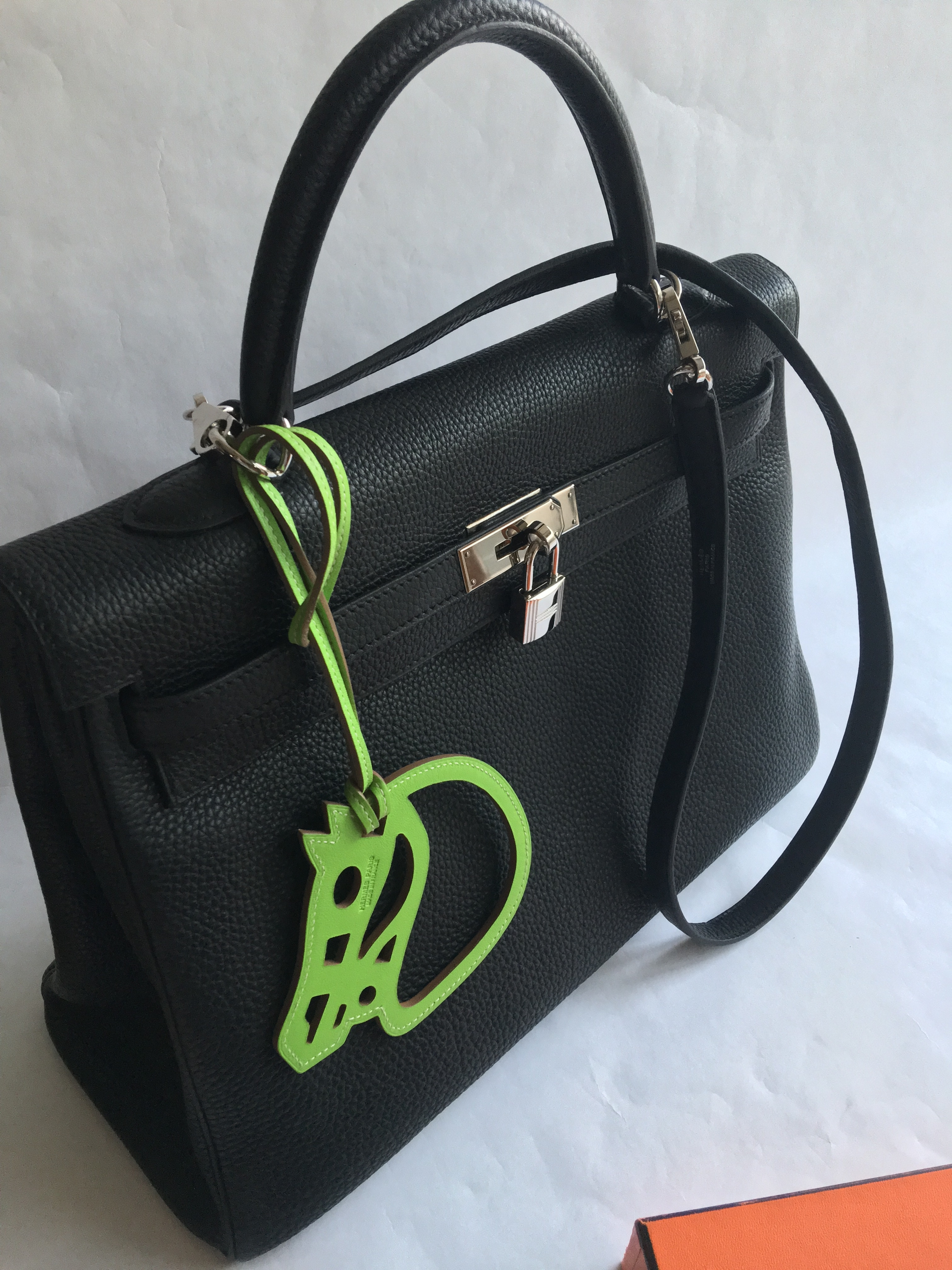 afa4726eef Authentic HERMES Paddock Cheval Horse Bag Charm Swift Lime for Kelly    Birkin – SANDIA EXCHANGE