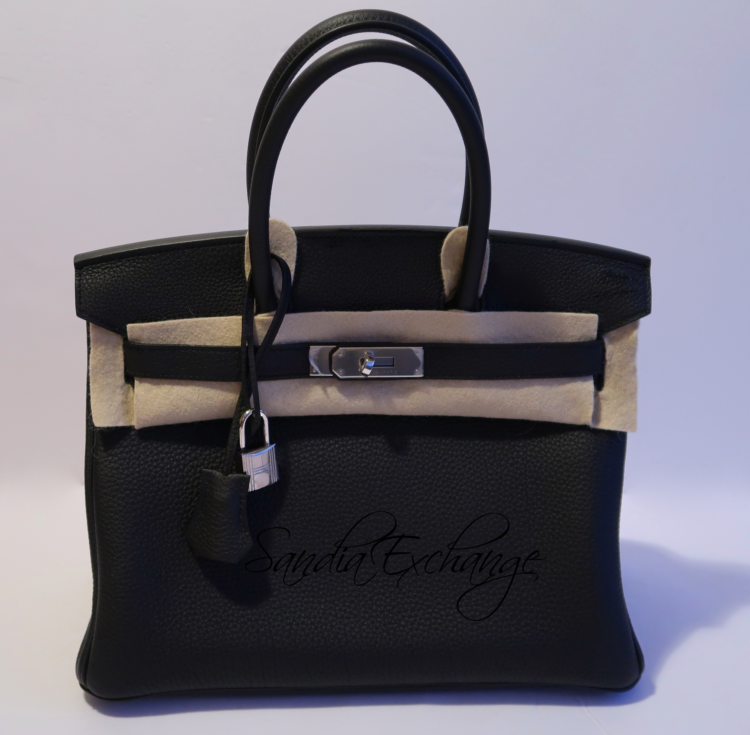 81e454caa41 HERMES Birkin 30 cm Black Togo Palladium Hardware Authentic HERMÈS ...