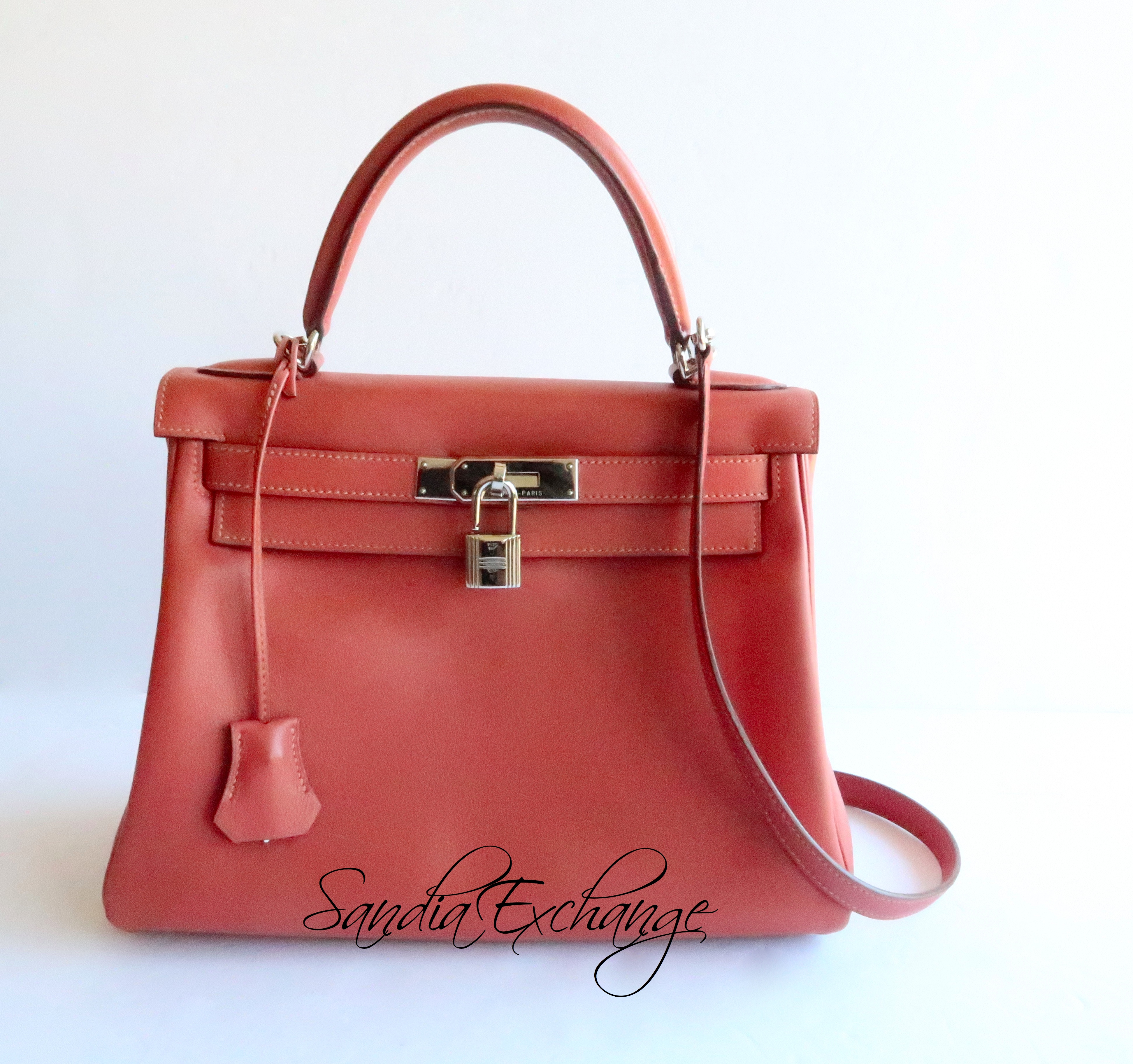 373ce46147e ... where to buy hermes kelly 28 cm coral pink swift palladium hardware authentic  hermÈs 890a5 5b1c0