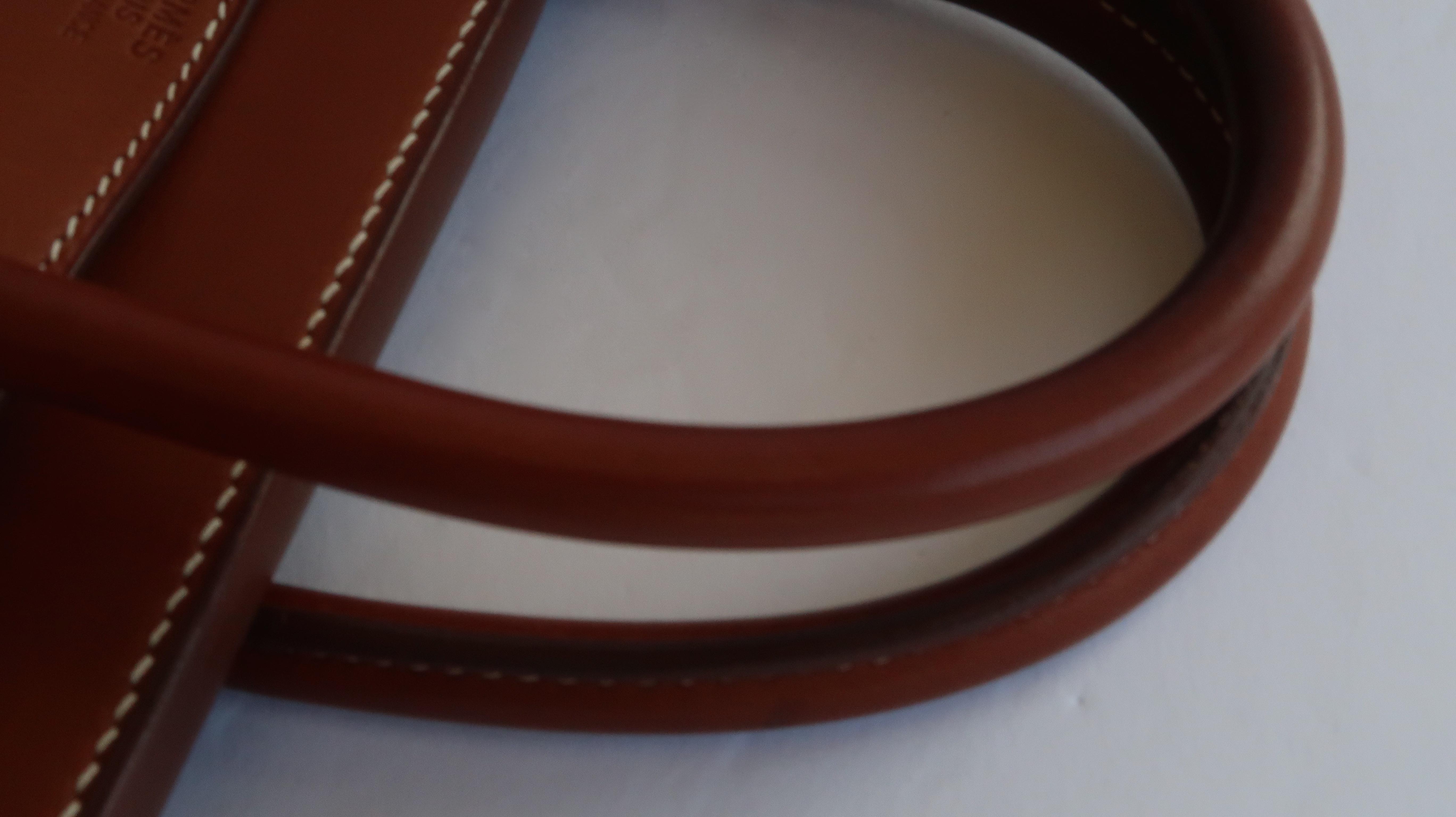 3ace57d95bd4 HERMES HAC 32 cm Barenia Birkin Fauve Palladium Hardware Authentic HERMÈS