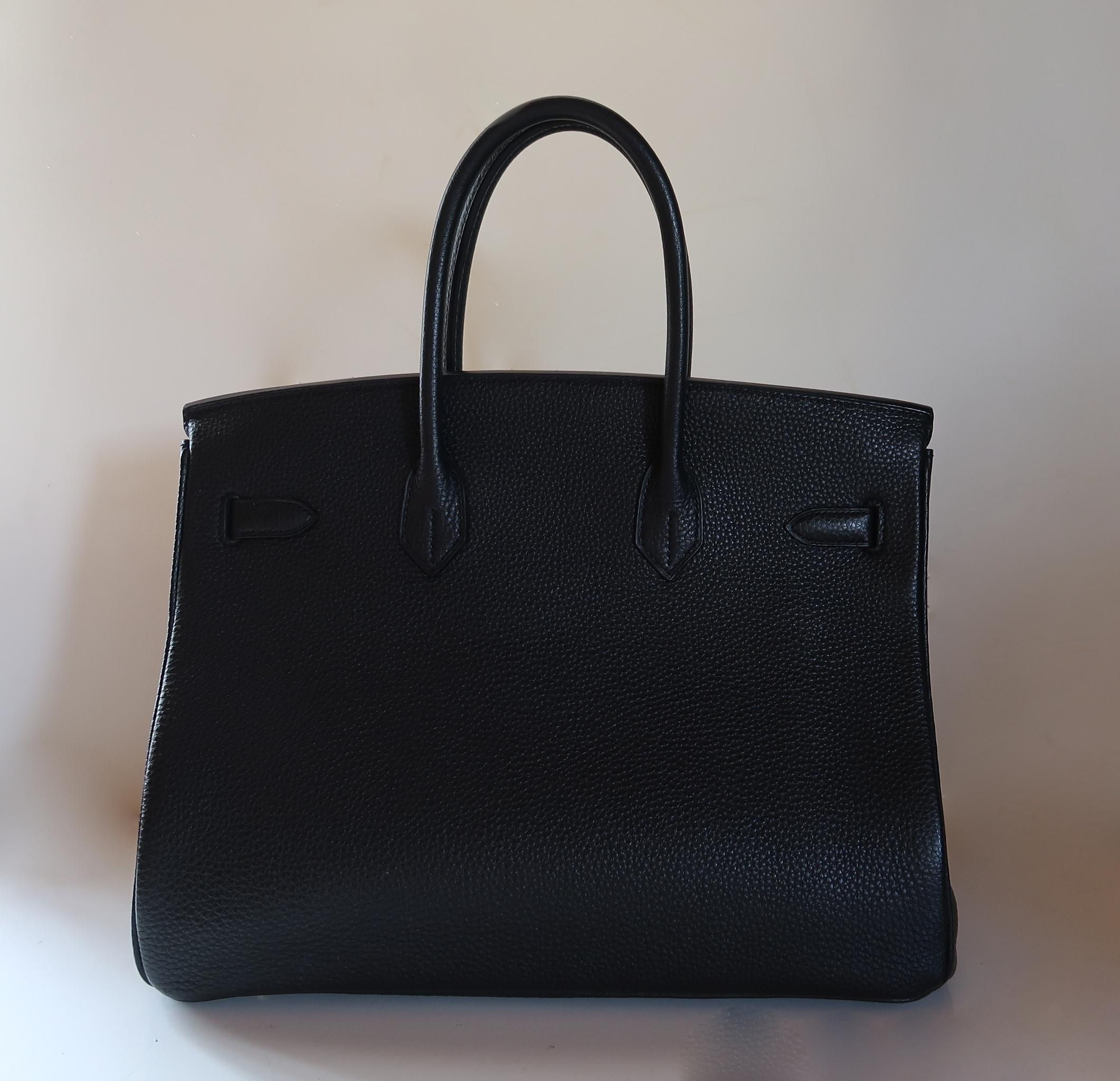 Authentic Hermès Birkin 35 Cm Black Togo Gold Hardware – SANDIA EXCHANGE 9c3b61a80
