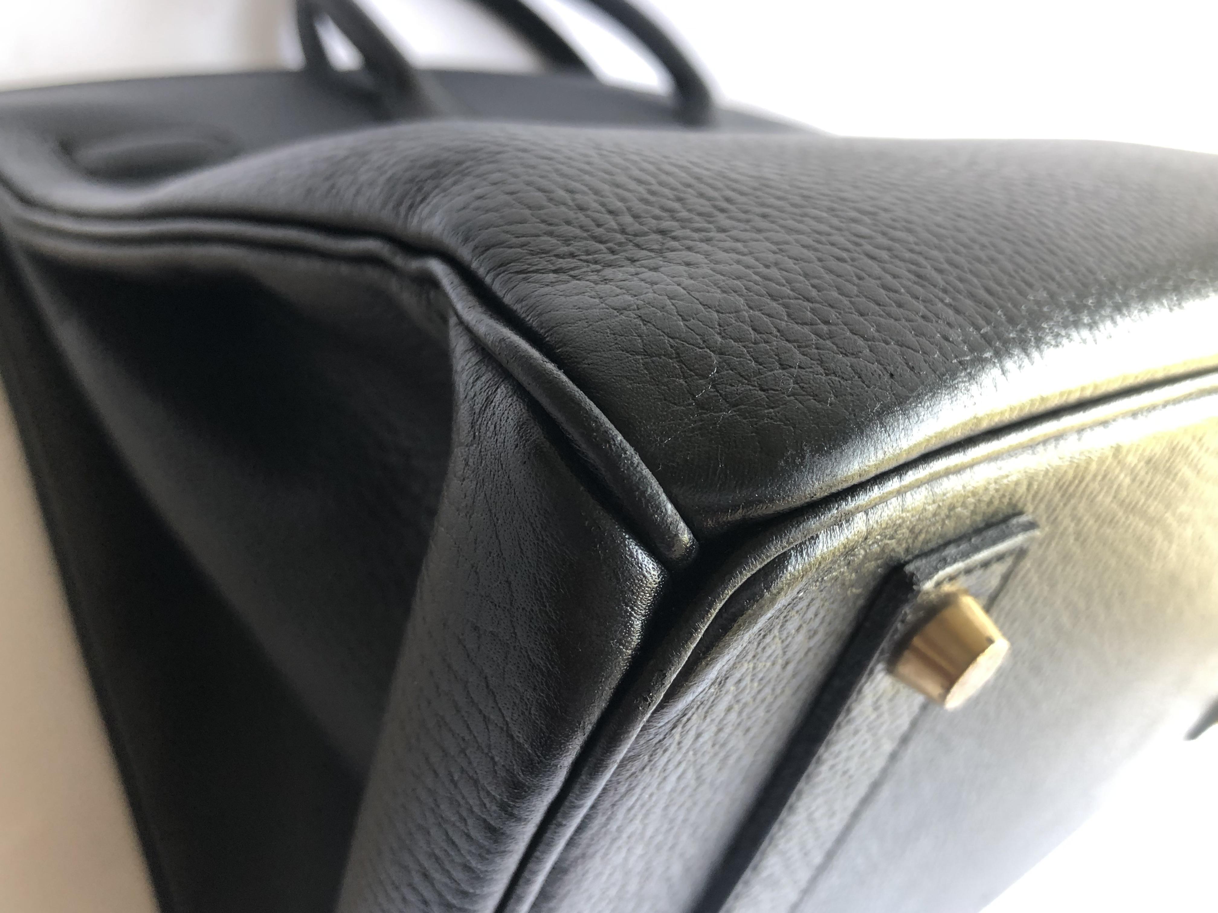 970b852eca Hermes Birkin 40 Cm Black Ardennes Gold Hardware Authentic Vintage ...